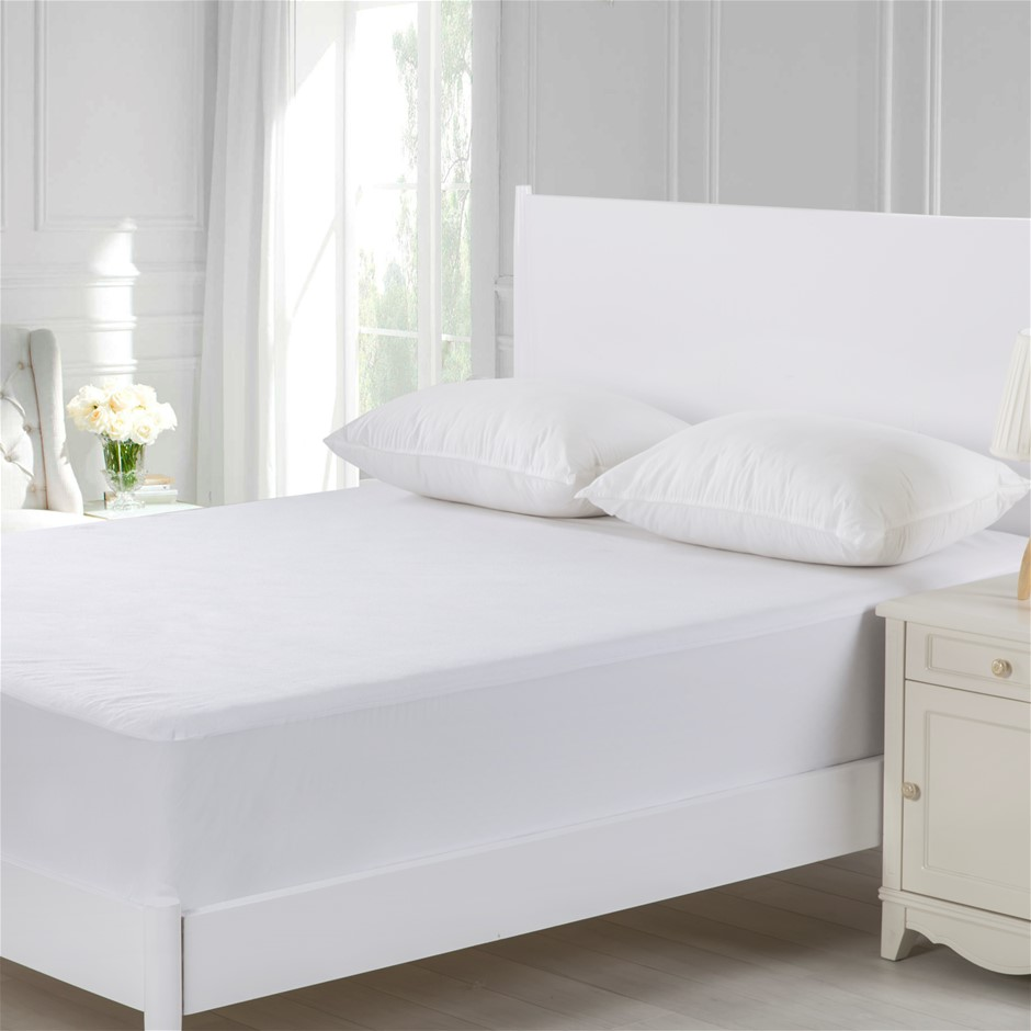 Dreamaker Cotton Terry Towelling Waterproof Mattress Protector King Bed
