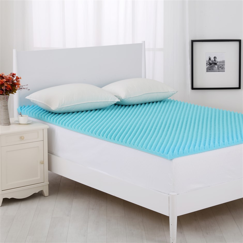 Dreamaker Gel Infused Convoluted Memory Foam Underlay Single Bed