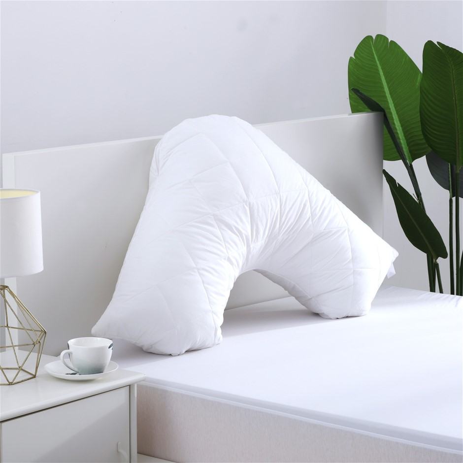 Dreamaker Cotton Cover Microfibre Filling Quilted Pillow Protector- V shape
