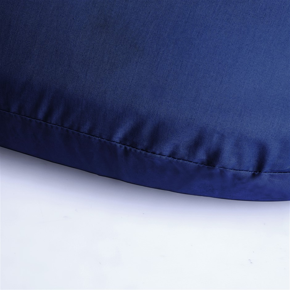 Dreamaker 250TC Plain Dyed V shape Pillowcase- Navy