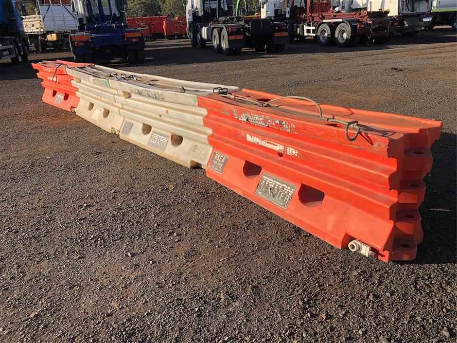 4 x Plastic Road Barriers
