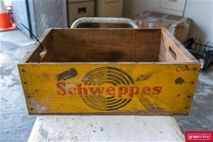 Schweppes Vintage Timber Bottle Grate