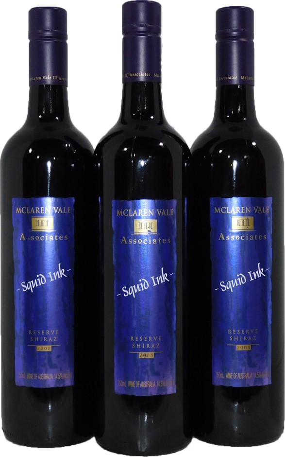 Mclaren Vale Premium Wines Squid Ink Shiraz 2008 (3x 750mL)