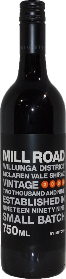 Mitolo Mill Road Shiraz 2009 (6x 750mL), McLaren Vale, SA. Screwcap