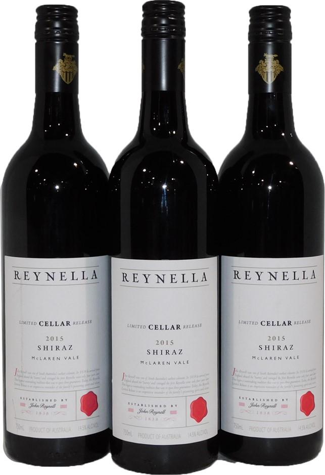 Reynella Cellar Release Shiraz 2015 (3x 750ml), McLaren Vale, SA