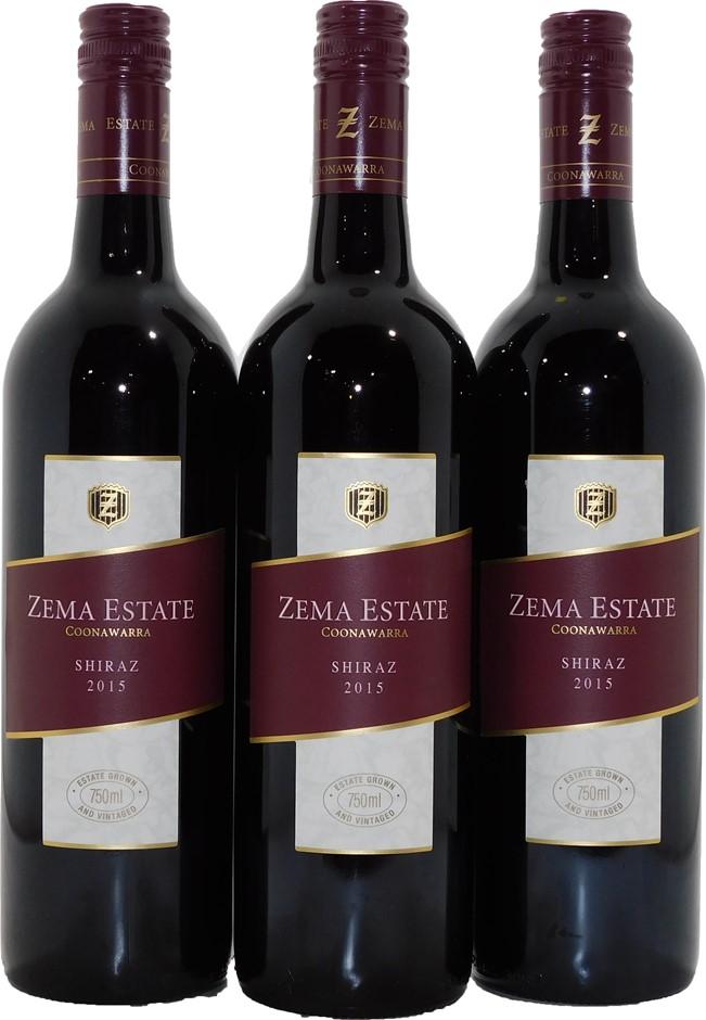 Zema Estate Shiraz 2015 (3x 750mL), Coonawarra, SA. Screwcap
