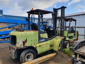 2 x Clark Forklifts Including CGP50 5 Tonne Forklift and CGC40 4 Tonne Forklift