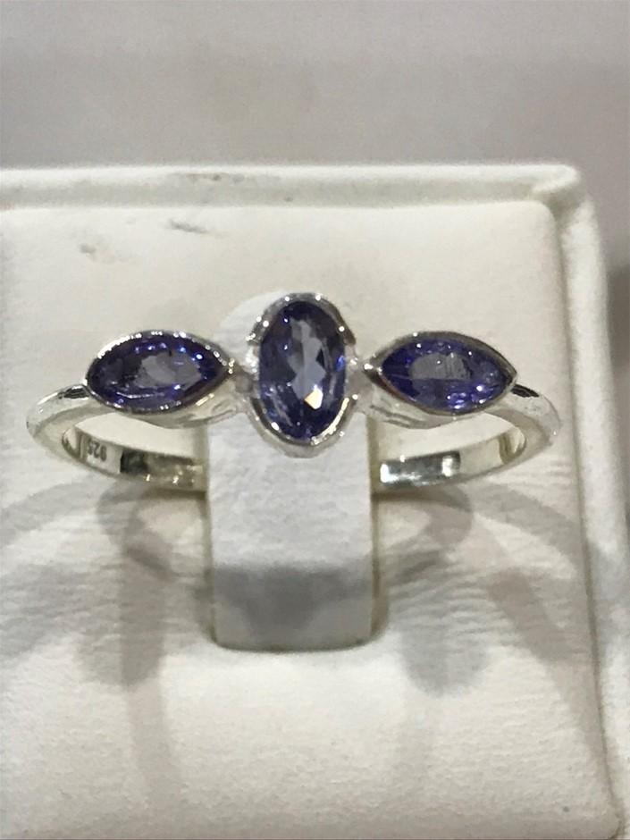 Beautiful Genuine Tanzanite Ring Size O 1/2 (7.50)