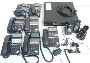 Carton of used telecommunications stock