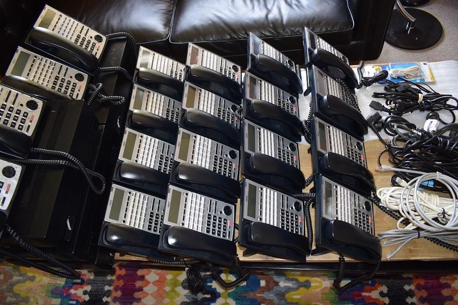 20 X NEC BRAN IP-PHONES, 5 X NEC SL1100 CONTROL BOXES