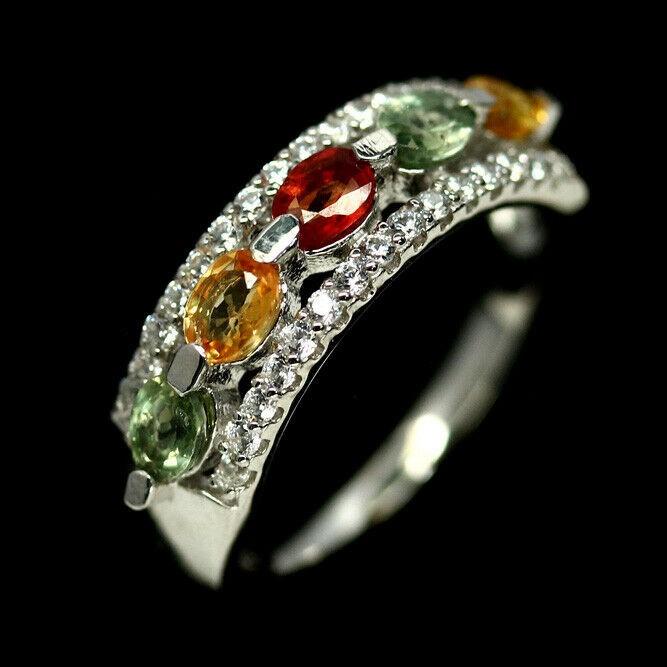 Beautiful Genuine Fancy Colour Sapphire Ring.