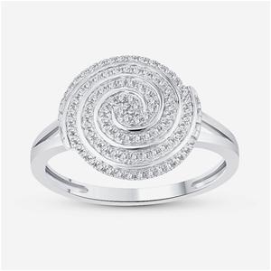 9ct White Gold, 0.20ct Diamond Ring