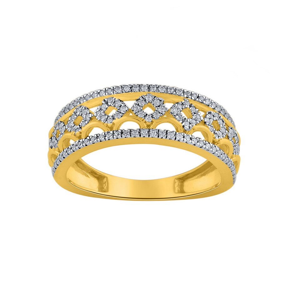 9ct Yellow Gold, 0.27ct Diamond Ring