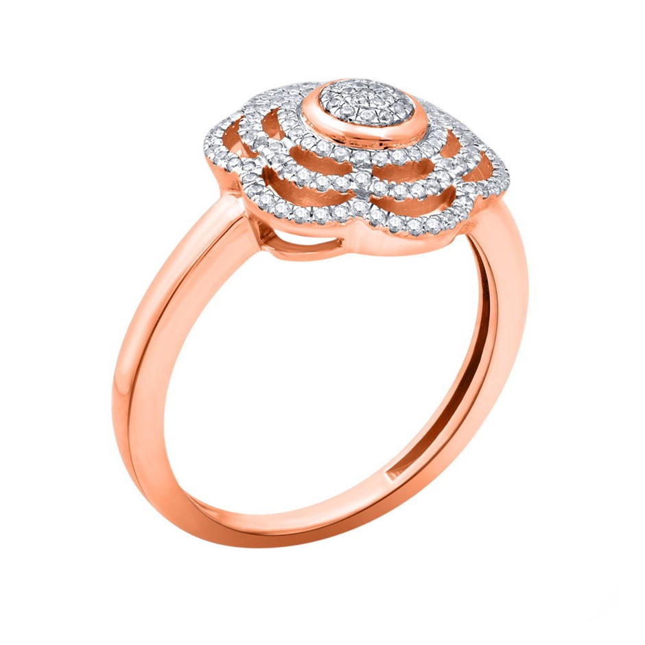 9ct Rose Gold, 0.17ct Diamond Ring