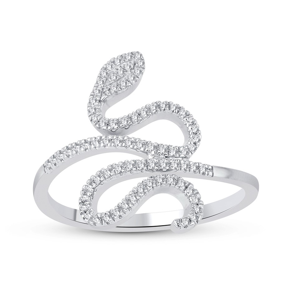 9ct White Gold, 0.17ct Diamond Ring