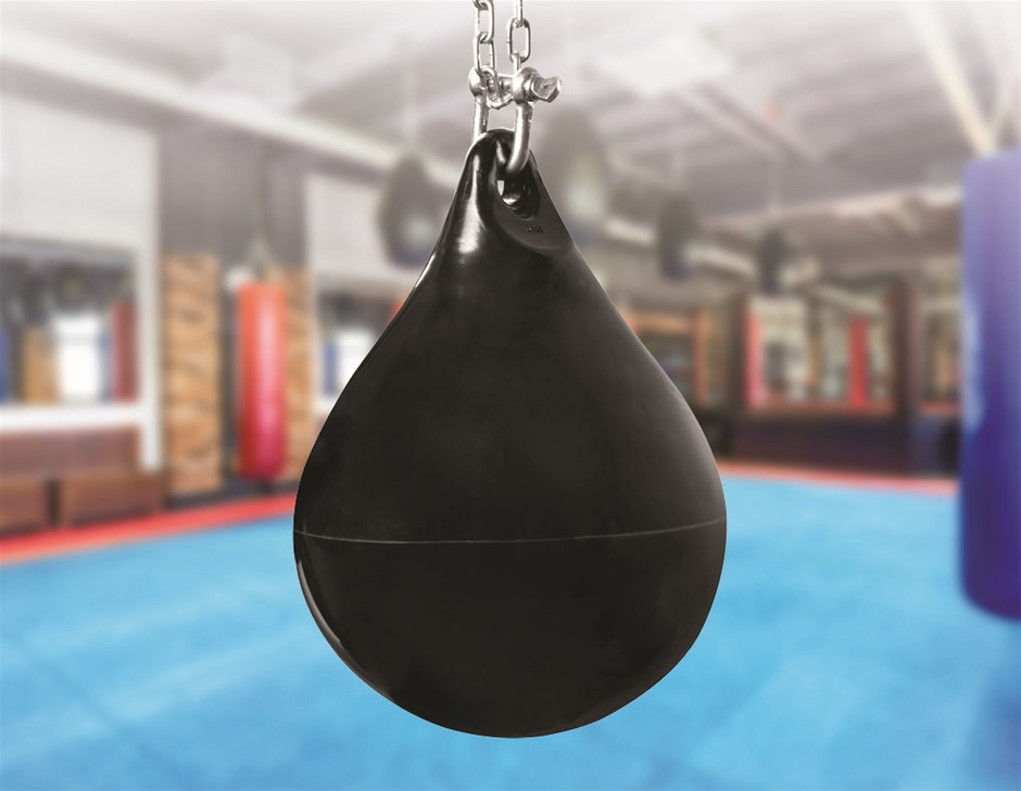30L Water Punching Bag Aqua with D-Shackle and Chain