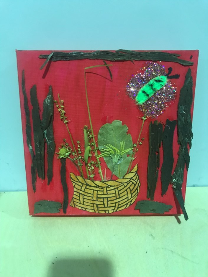 Hand Crafted Artwork On A Canvas Small