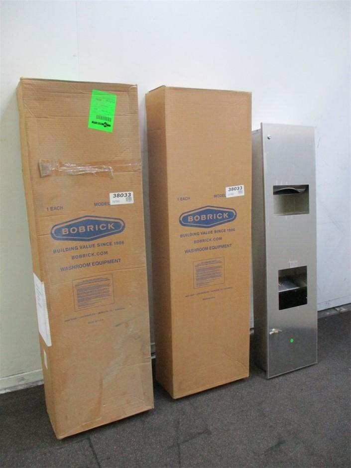 Qty 3 x Bobrick Paper Towel and Hand Dryer Dispenser