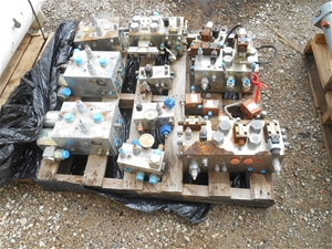 Pallet of Various Hydraulic Valves and V