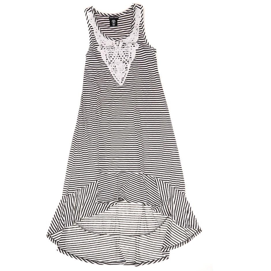 PAPER DOLL Women`s Midi Dress, Size 7, Black & White. Buyers Note - Discoun