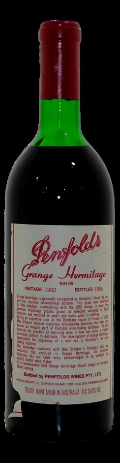 Penfolds Grange Hermitage Bin 95 Shiraz 1982 (1x 750mL), SA. Cork