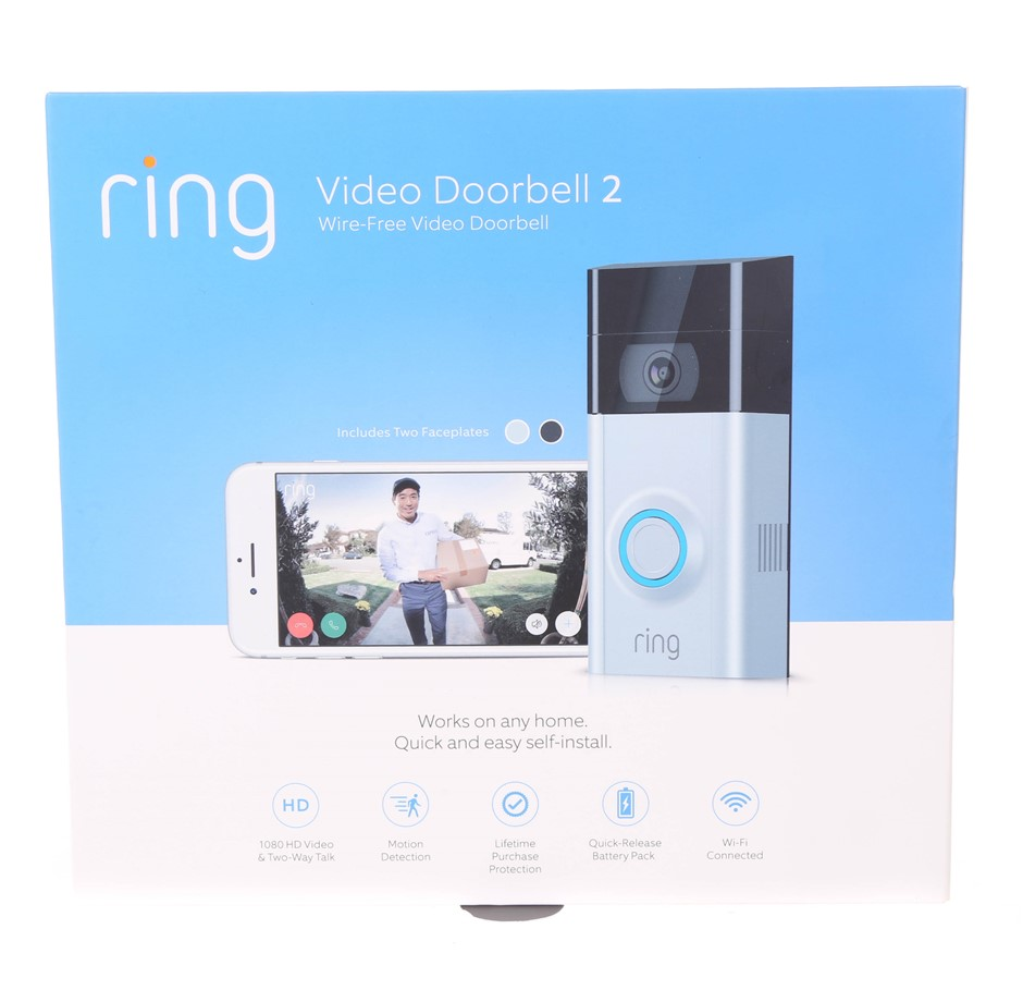 RING Video Doorbell 2 with 1080 HD Video & Two Way Talk. N.B. Has had some