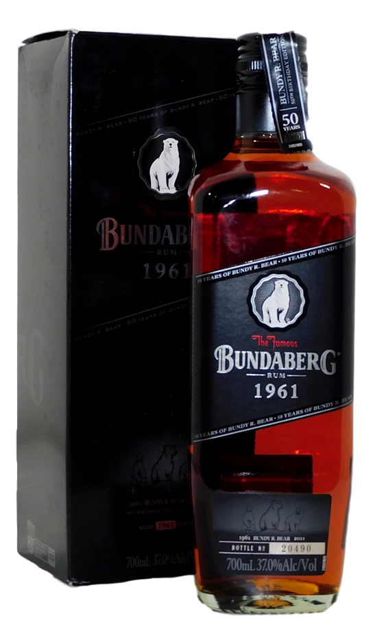 Black 1961 Rum NV (1x 700mL, Bottle # 20490), QLD. Screwcap
