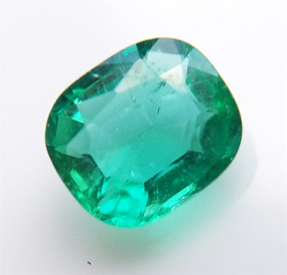 0.87 Carat Colombian Emerald