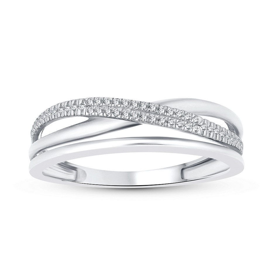 9ct White Gold, 0.07ct Diamond Ring