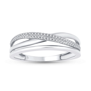 9ct White Gold, 0.07ct Diamond Ring