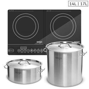 SOGA Dual Burners Cooktop Stove, 14L & 1