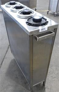 Mobile Stainless Steel Rectangular 4 Bay