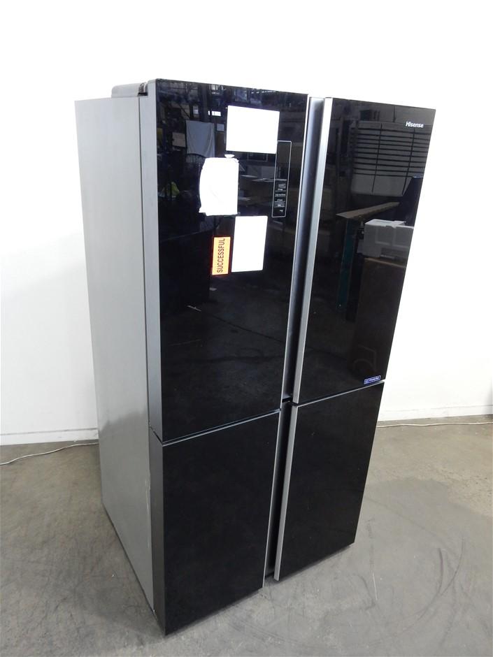 Hisense 695L French Door ridge (HR6CDFF695GB) (Black)