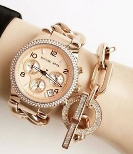 Ladies very glamorous new Michael Kors Couture NY watch.