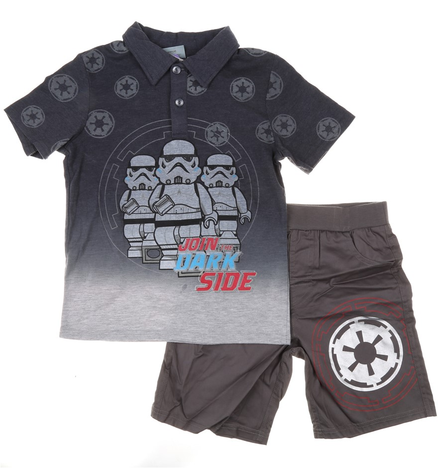 Children`s STAR WARS 2pc Clothing Set, Includes; Polo Shirt & Shorts, Size