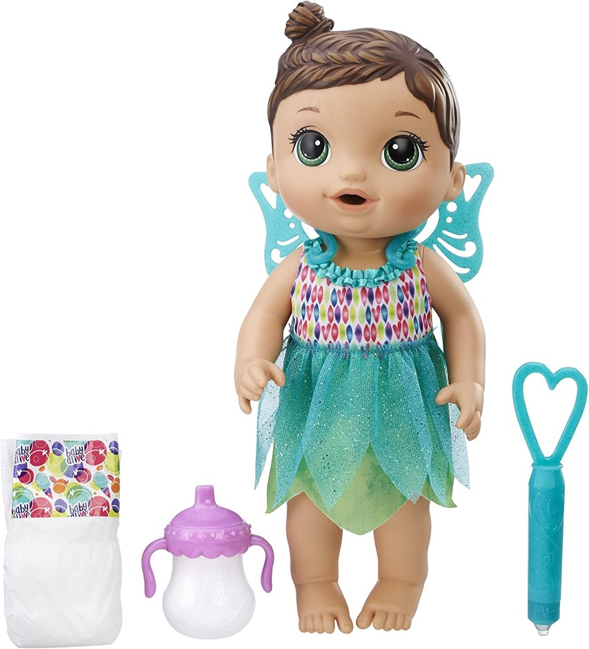 Baby Alive - Face Paint Fairy Brunette Hair Baby Doll - Interactive Kids To