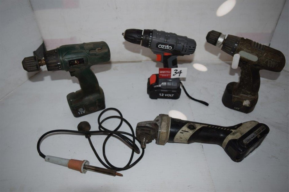 Lot of 4 Assorted Cordless Power Tools