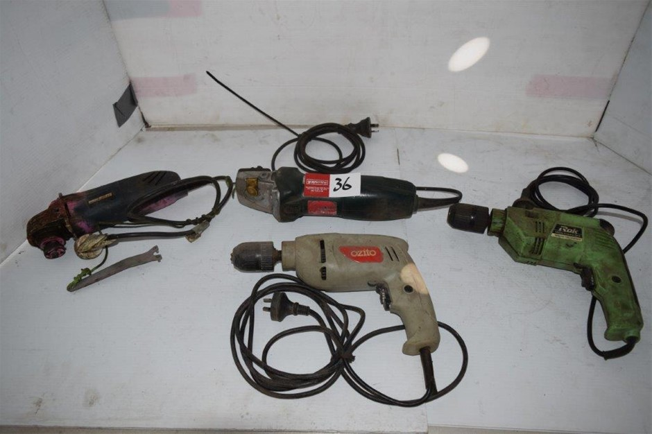 Lot of 4 Single Phase Corded Power Tools
