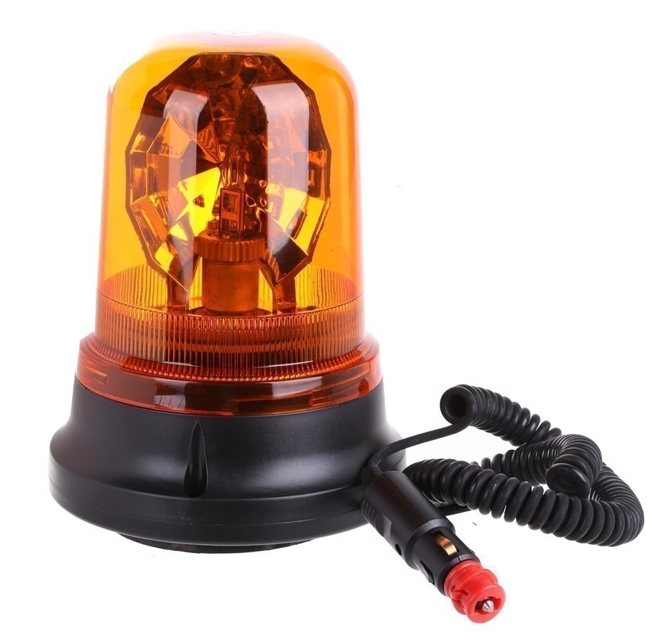 Revolving Warning Beacon With Magnetic Base, 12/24V, Size: 155mm x 200mm Le