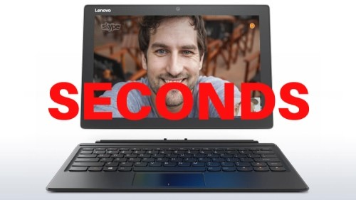 Lenovo IdeaPad Miix 510-12ISK 12-inch Tablet with Keyboard, Silver/Black