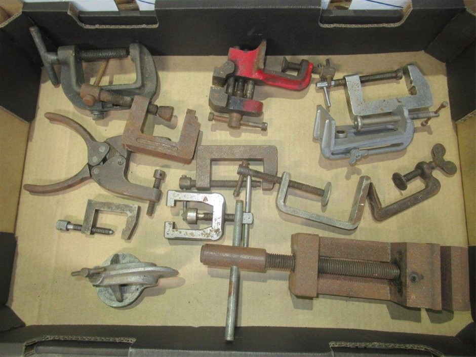 """Various """"C"""" & """"G"""" Clamps and One Machine Clamp"""