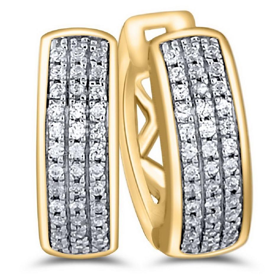 9ct Yellow Gold, 0.16ct Diamond Earring