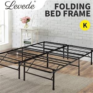 Levede Bed Frame King Folding Mattress M