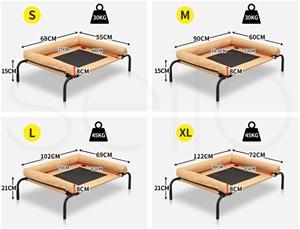 PaWz Pet Bed Heavy Duty Frame Hammock Bo