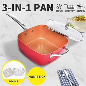 Scepan Set Frying Pan Non Stick Deep Fry