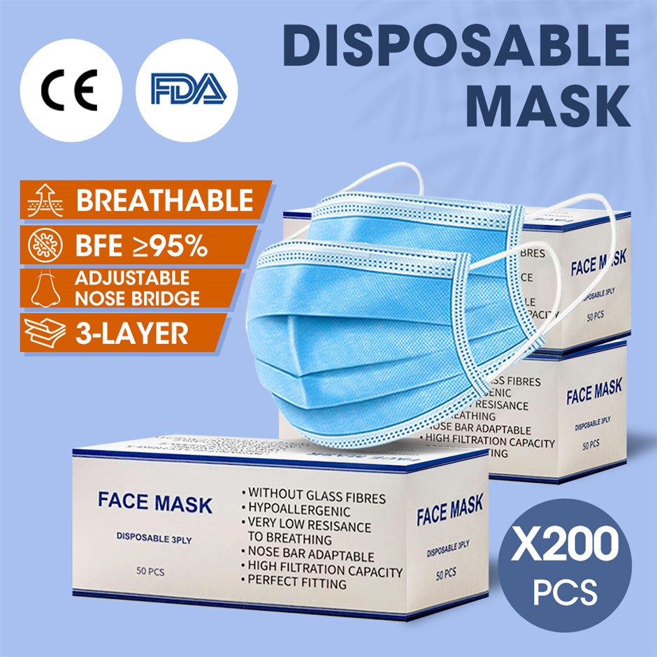 Face Mask Filter Disposable Masks Anti Dust Respirator Air Pollution X200