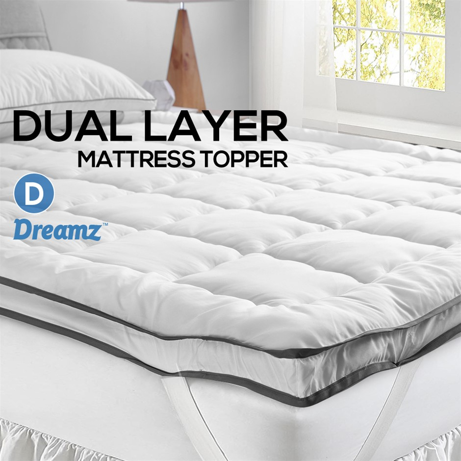 DreamZ Bedding Pillowtop Bed Mattress Topper Mat Pad Protector Cover Double