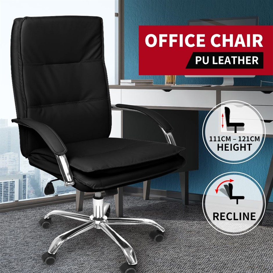 Gaming Chair Office Computer Racing PU Leather Executive Racer Recliner