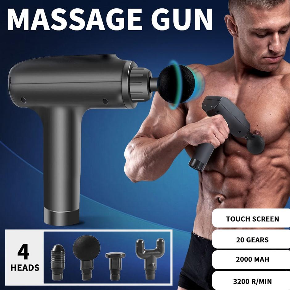 Massage Gun Deep Tissue Percussion Massager Muscle Vibrating Relaxing LCD