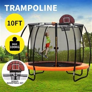 10FT Trampoline Round Trampolines Basket